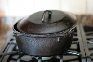 "This Dutch oven, and a source of heat, is all you need to make ""High Speed Venison."""