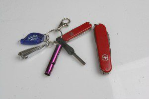 This keyring kit is one way to keep some of the basic survival tools with you at all times.
