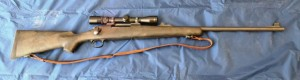 This Remington 700 synthetic 7 mm is my bad weather rifle and has been carried extensively elk hunting in the west.