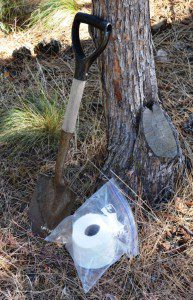 A shovel and toilet paper (in a waterproof container) are vital aspects of any backcountry privy construction. (Leon Pantenburg photos)