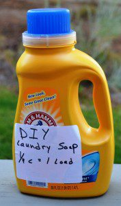 This batch of laundry soap for a front loader washing machine is very efficient and costs pennies to make. (Pantenburg photos)
