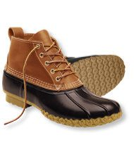 The L.L. Bean rubber bottom/leather top boot is a great choice for eastern deciduous forest hunting.