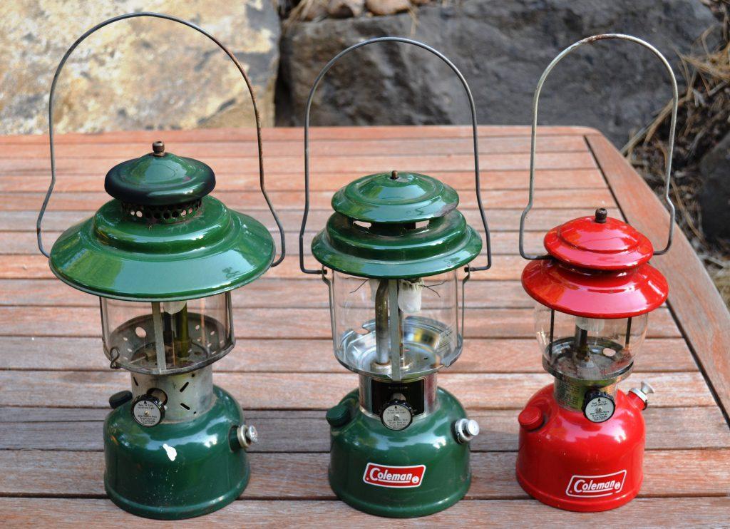 Salvaged coleman lanterns c