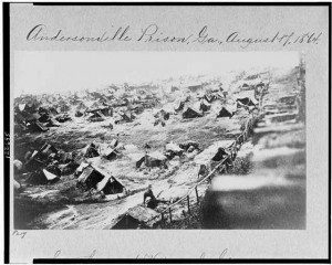 Andersonville, August, 1864 ( Library of congress photo)