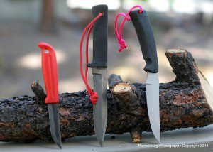 Use paracord and the hole in the handle to make a knife safer and easy to keep track of.