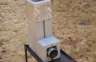 This improvised block rocket stove could be invaluable after a natural disaster strikes.